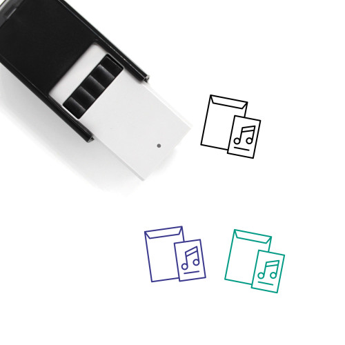 Music Lessons Self-Inking Rubber Stamp No. 1