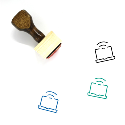 Wifi Wooden Rubber Stamp No. 87