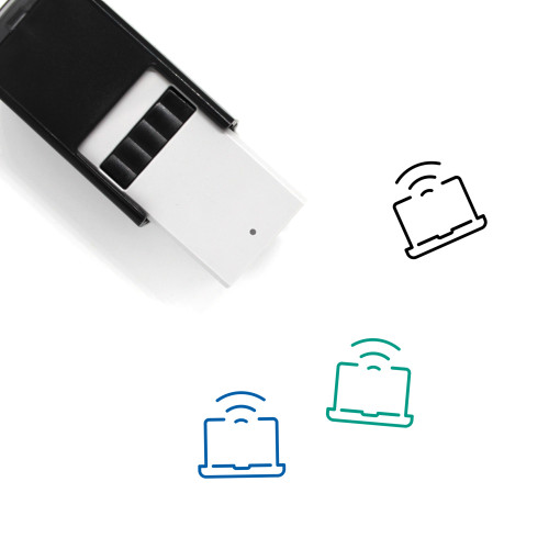 Wifi Self-Inking Rubber Stamp No. 87