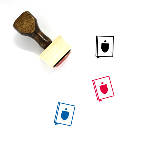 Law Wooden Rubber Stamp No. 183
