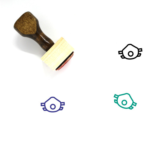 Mask Wooden Rubber Stamp No. 65