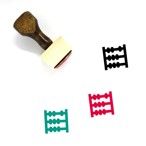 Abacus Wooden Rubber Stamp No. 13