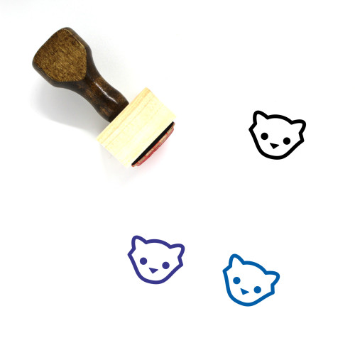 Kitten Wooden Rubber Stamp No. 8
