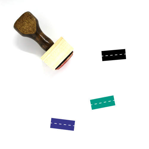 Street Wooden Rubber Stamp No. 6