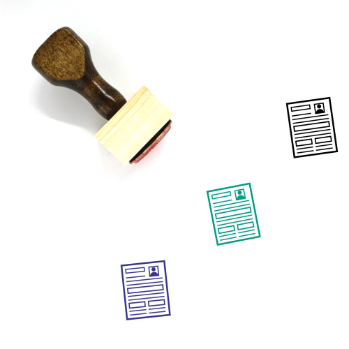 Resume Wooden Rubber Stamp No. 23