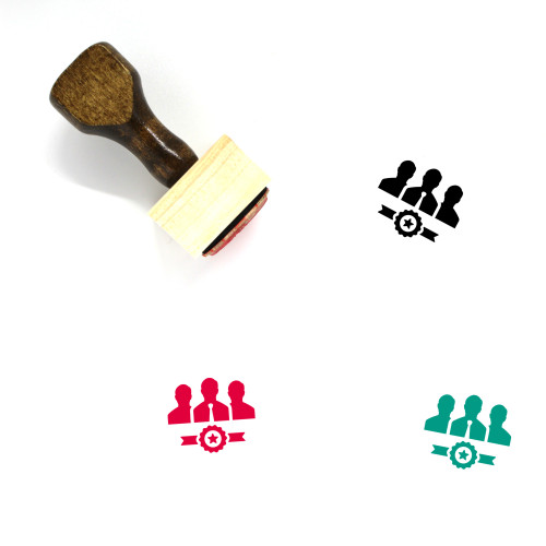 Business Team Wooden Rubber Stamp No. 21