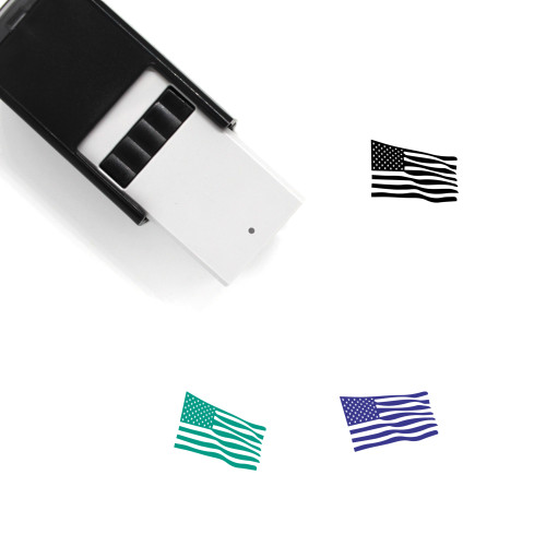 American Flag Self-Inking Rubber Stamp No. 28
