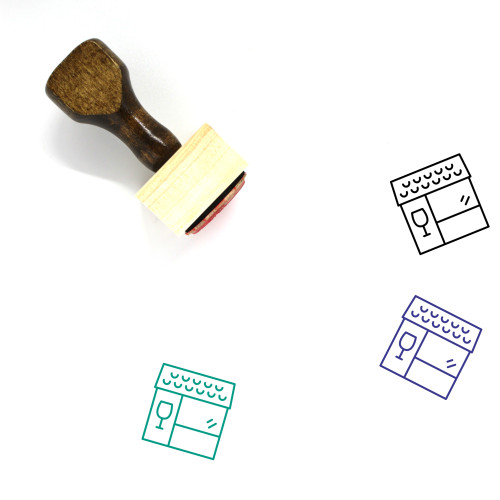 Winery Wooden Rubber Stamp No. 6