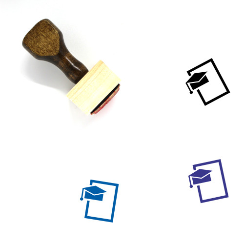 Degree Wooden Rubber Stamp No. 11