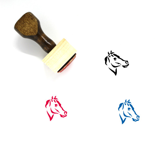 Horse Wooden Rubber Stamp No. 11