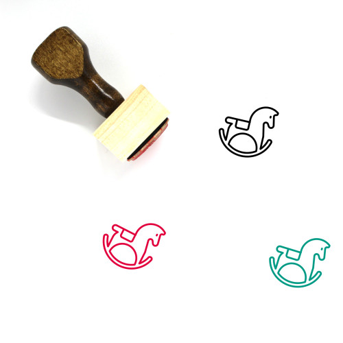 Rocking Horse Wooden Rubber Stamp No. 5