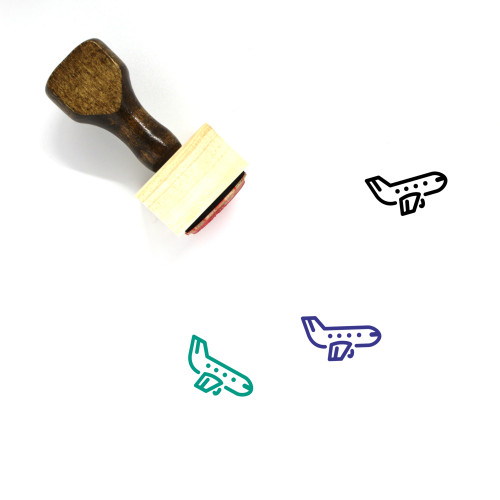 Airplane Wooden Rubber Stamp No. 32