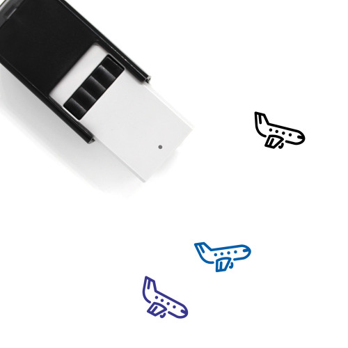 Airplane Self-Inking Rubber Stamp No. 19