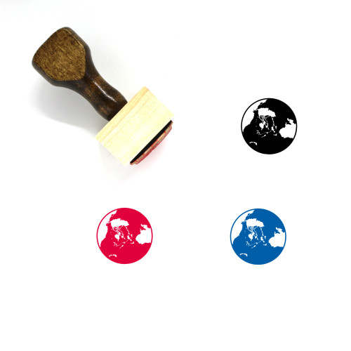 Eart Wooden Rubber Stamp No. 1