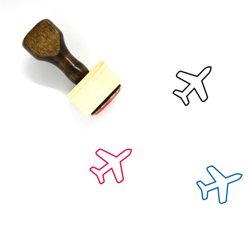 Airplane Wooden Rubber Stamp No. 33