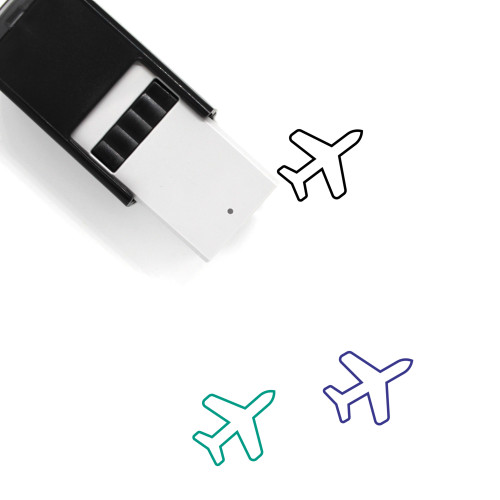 Airplane Self-Inking Rubber Stamp No. 20