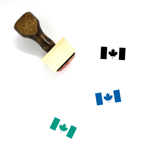 Canada Day Wooden Rubber Stamp No. 1