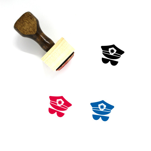 Police Wooden Rubber Stamp No. 155