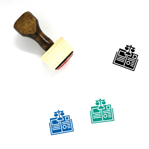 Law Book Wooden Rubber Stamp No. 16