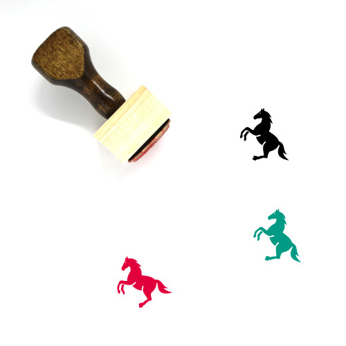 Horse Wooden Rubber Stamp No. 87