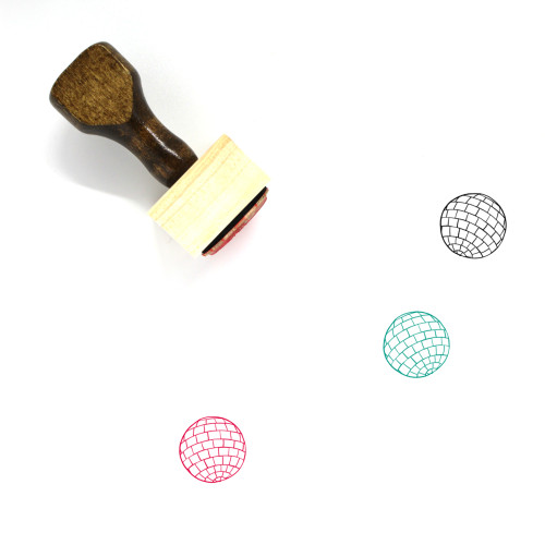Disco Ball Wooden Rubber Stamp No. 1