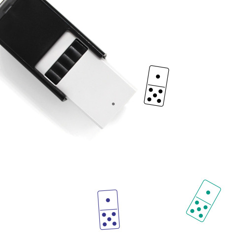 Domino Self-Inking Rubber Stamp No. 110