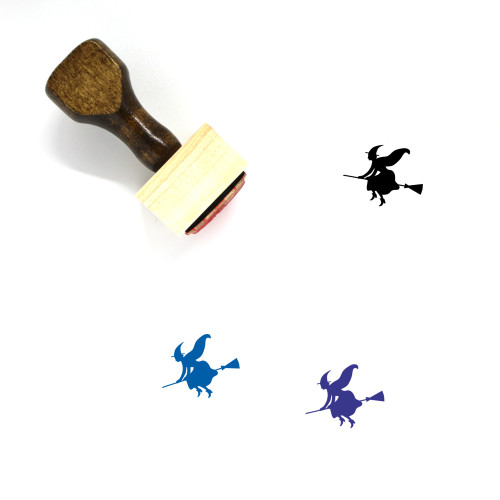 Witch Wooden Rubber Stamp No. 2