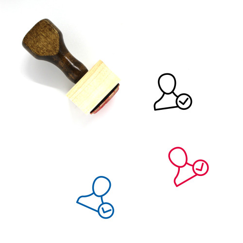 Accept User Wooden Rubber Stamp No. 19