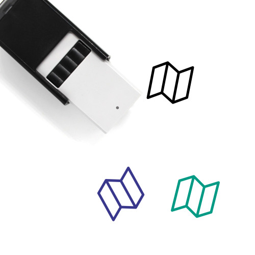 Map Self-Inking Rubber Stamp No. 317