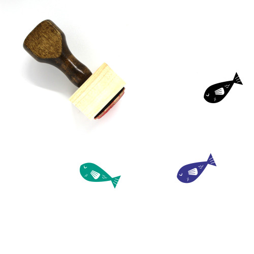 Fish Wooden Rubber Stamp No. 205