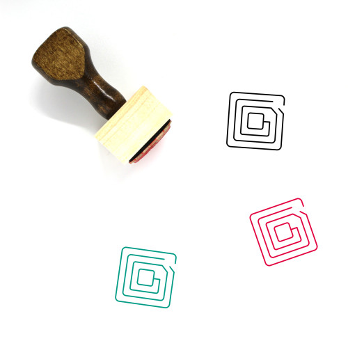 Radio Frequency Identification Wooden Rubber Stamp No. 1