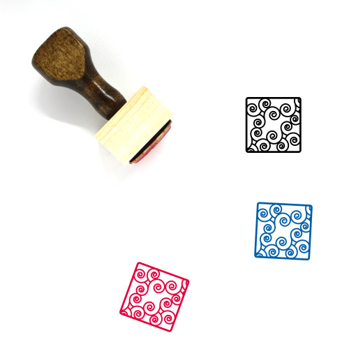 Abstract Seven Wooden Rubber Stamp No. 1