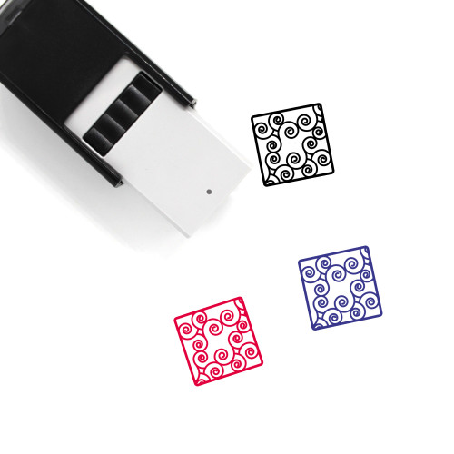 Abstract Seven Self-Inking Rubber Stamp No. 1