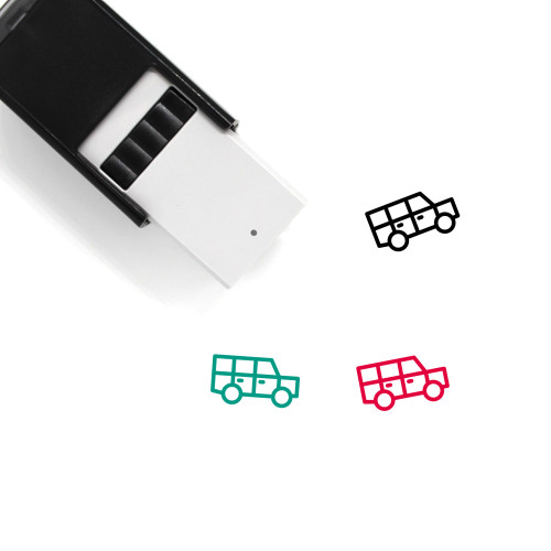 4X4 Self-Inking Rubber Stamp No. 1