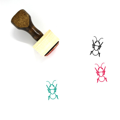Ant Wooden Rubber Stamp No. 24