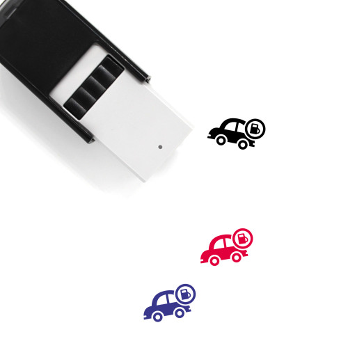 Car Fuel Self-Inking Rubber Stamp No. 1