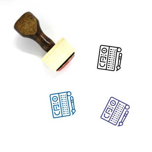 Hieroglyphs Wooden Rubber Stamp No. 1