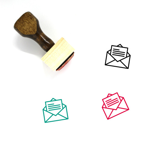 Open Letter Wooden Rubber Stamp No. 1