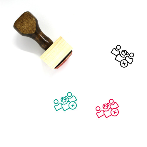 Multiple User Wooden Rubber Stamp No. 2