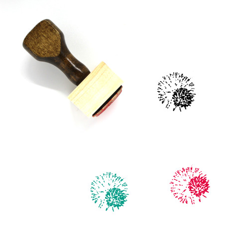 Fireworks Wooden Rubber Stamp No. 94