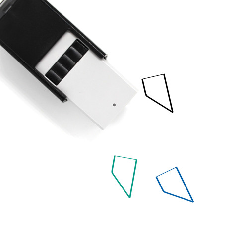 Abstract Edgy Self-Inking Rubber Stamp No. 1
