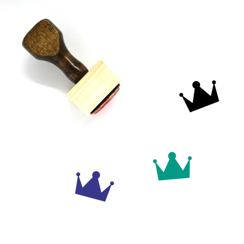 Crown Wooden Rubber Stamp No. 1061