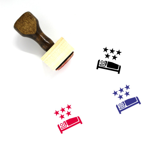 Five Star Hotel Wooden Rubber Stamp No. 3