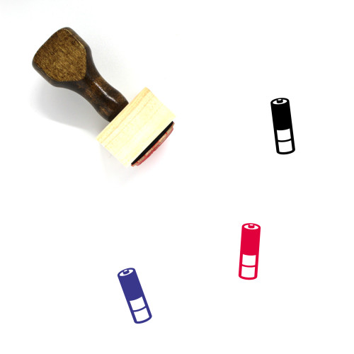 Battery Wooden Rubber Stamp No. 234