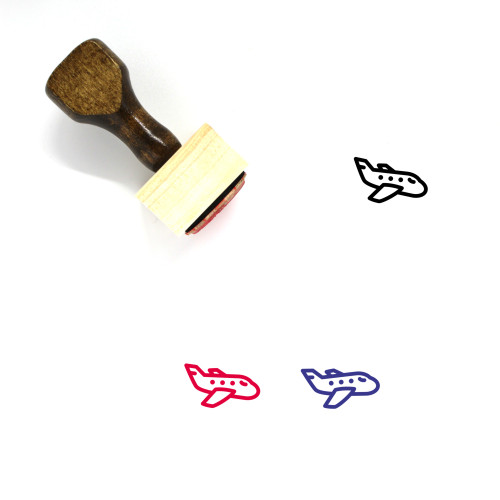 Airplane Wooden Rubber Stamp No. 256