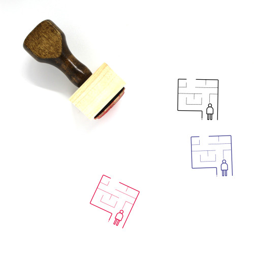 Evacuation Plan Wooden Rubber Stamp No. 1