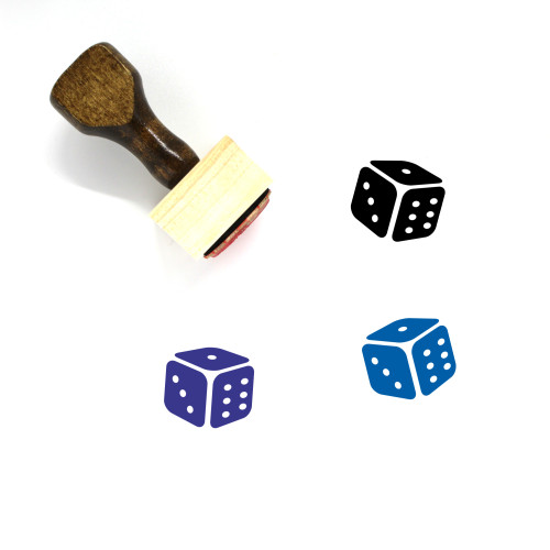Dice Wooden Rubber Stamp No. 73