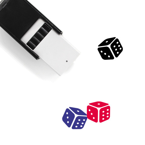 Dice Self-Inking Rubber Stamp No. 73