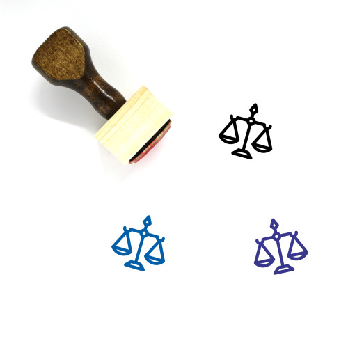 Scales Of Justice Wooden Rubber Stamp No. 9