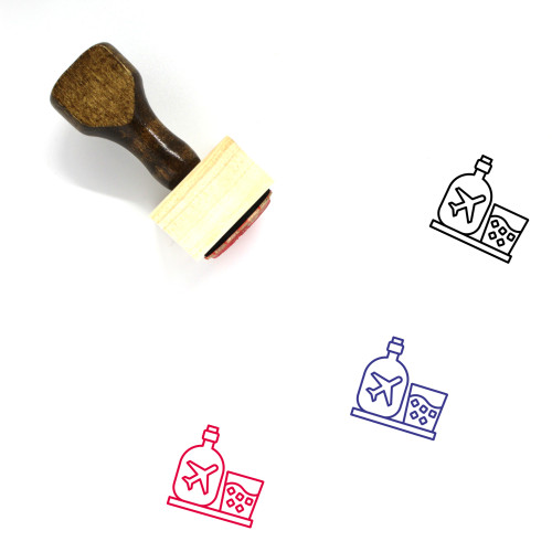Airport Bar Wooden Rubber Stamp No. 1